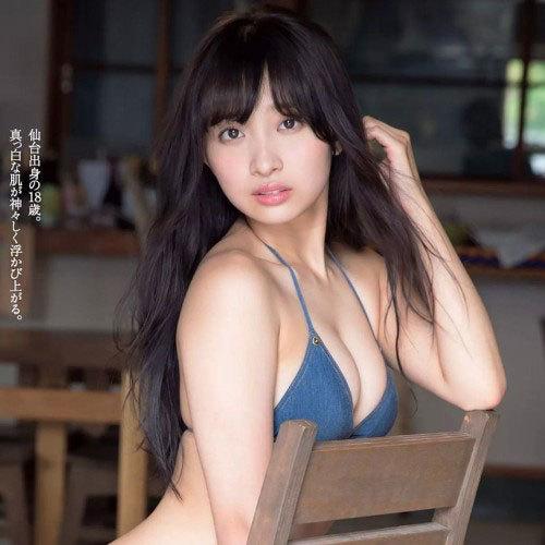 渡邉幸愛(19) SUPER☆GiRLSツートップ!エロい谷間のくっきりグラビア画像