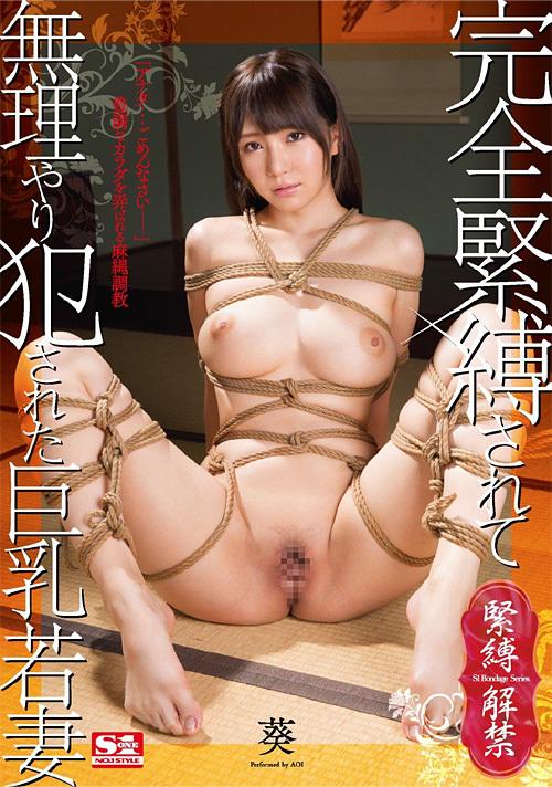 完全緊縛されて無理やり犯された巨乳若妻 葵