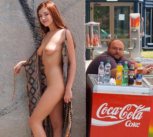 【海外露出エ□画像】ナイスボディの外国人美女たちが公共の場で大胆過ぎるwww