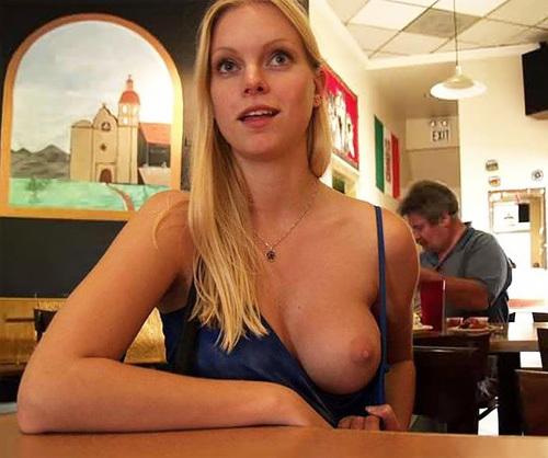 飲食店で露出するときの王道パターンがこちらwwwwwwwwww(画像30枚)