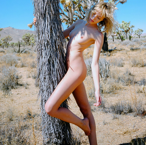 キュートなファッションモデル、Cora Keegan の大自然の中で撮ったヌード写真www
