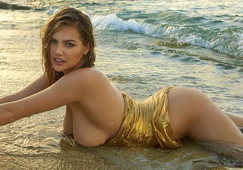人気スーパーモデル、ケイト・アプトンの色っぽいな手ブラ写真やムービーwwwwww