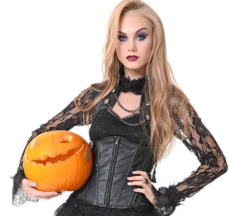 (海外モデルのストリップ)ちょいワルでとことん色っぽい☆魔女コスがハマり過ぎなカネ髪のオネエさんwwwwww