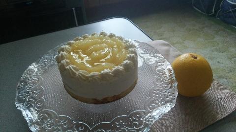 グレープフルーツのケーキ(ビッシュ)