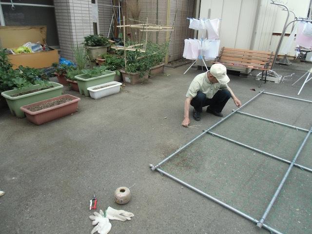 ひょうたん棚作り(1)