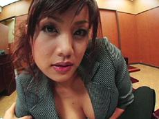【無修正】藤咲ゆうか もし私が社長で、秘書がドスケベな女だったら 中編||