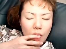 【無修正】和服の目隠し熟女 松井はるか