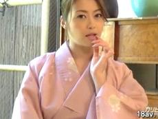 熟女動画だよ :【無修正】北条麻妃が和服を着たままフェラで連続抜き