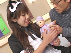 裏・桃太郎の弟子 :【無修正】メイド服の母乳ママにメロメロ 吉沢ミルク