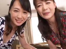 ダイスキ!人妻熟女動画 :2人の美熟女が1人の男を取り合って精気を吸い尽くす! 三浦恵理子 安野由美