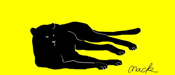 横たわる豹1