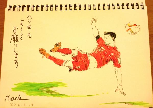 模写サッカー