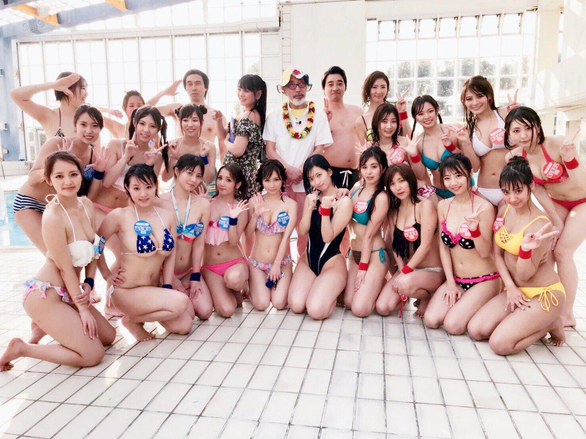 グラドルVSセクシー女優!水泳大会2018春002