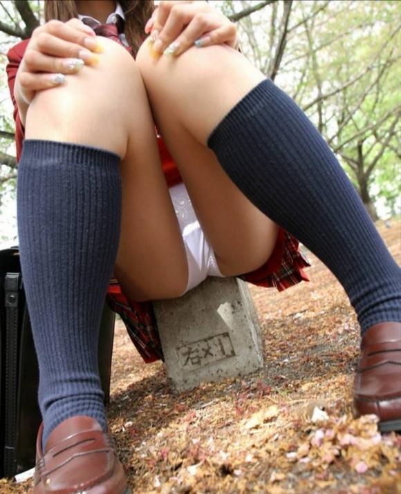 【JK】自分からパンツ見せてくる女子校生に万歳wwwwwww【画像30枚】02_20180530164137a1c.jpg