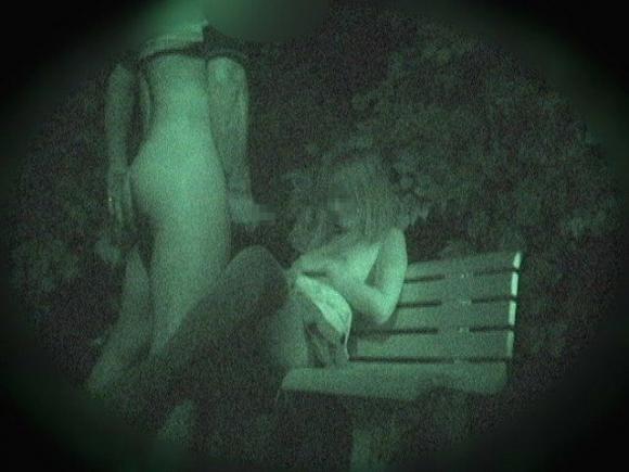【青姦】野外でセックスしてるカップルを赤外線で盗撮wwwwwww【画像30枚】11_20180912173324138.jpg