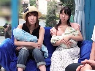《人妻ナンパ》 モデルみたいな子持ちママをGET!こんなキレな人が3P大乱交でイキまくり!