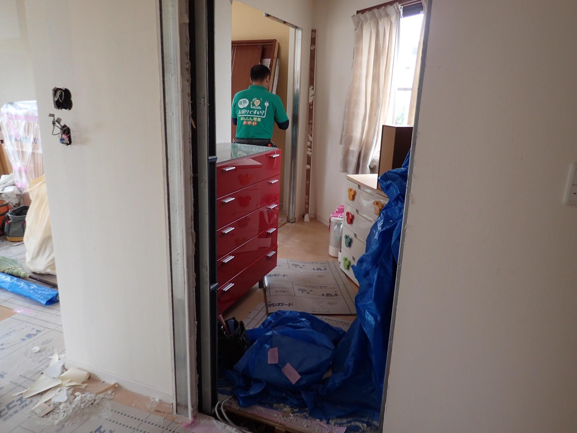 子ども部屋電気工事