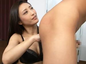 【神納花】M男のアナルを舐め指で掻きまわし前立腺責め手コキで悶絶させる美痴女