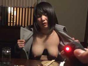 【大堀香奈】巨乳M女を居酒屋でリモコンバイブ&野外で変態露出で調教してホテルで中出しSEX