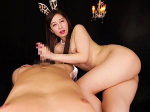 【佐々木あき】淫語のスゴイ変態バニーの濃厚フェラチオ主観映像