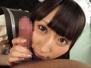 【佐々木りのあ】超絶美少女メイドがチンポに頬ずりして丁寧なフェラチオ!!