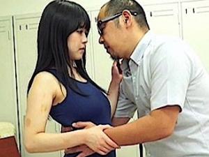 【涼海みさ】オマンコ疼く黒髪ロング女子校生が体育倉庫でスク水姿で教師と淫行。トロトロオマンコ美味しいですw