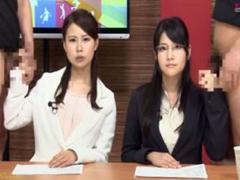 視聴者に淫語を連発するマンコ丸出し美人ニュースキャスター 渋谷美希 小川奈緒 玉城マイ