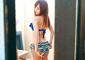 【吉沢明歩】 セクシー女優の綺麗なお姉さんを主観レ〇プ! 更衣室のトイレで強引に犯す!! 【tube8】