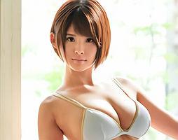 【音無レナ】 テレビにも出演をしたことがあるグラビアアイドルがAVデビュー! Gカップ美乳娘の濃密セックス!! 【tube8】