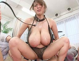 【Hitomi】 爆乳インストラクターの美女を主観で首輪をつけて調〇、ヤリたい放題弄ぶ! 【tube8】