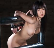 【大槻ひびき】 黒髪美女の肉体の自由を奪う鉄枷完全固定、動けない美女に生チンポぶち込んで中出し 【tube8】