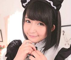 清楚系の黒髪美少女メイドさんが勃起チンポを一生懸命ご奉仕するフェラ抜き!!