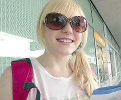 アイルランドから来た白人巨乳美少女が日本人男性宅にホームステイ! パコパコセックスしちゃいました!!