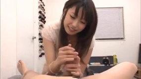 【有村千佳】優しく乳首舐め手コキで今夜のオナサポをしてもらおう!