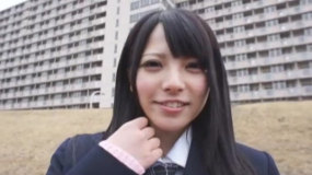 上原亜衣が制服姿で乳首いじりSEXを精一杯やってくれた!!制服最高!ニーソ最高!