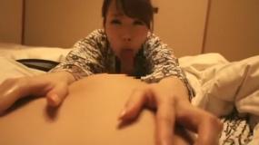 白い肌の浴衣お姉さんによる乳首責めノーハンドフェラチオ!! 芦名未帆