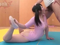 時間を止めてツインテールの可愛い新体操部員をレ○プ