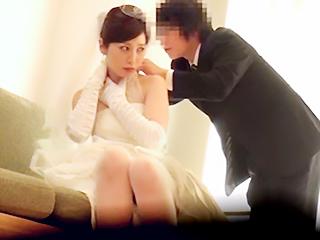 「やめて下さい…」前撮りに来た新妻の懇願無視しウエディング姿のままハメ喰い!