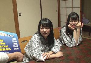 1発射精させるごとに10万円!旅行中の女子大生が男子グループへ逆夜這い!