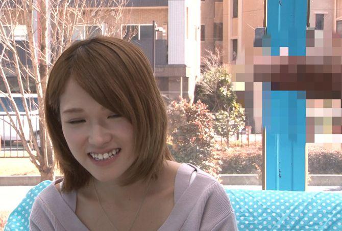 上京娘に声をかけマジックミラー号でデカチンのどじゃくり体験をしてもらいました。