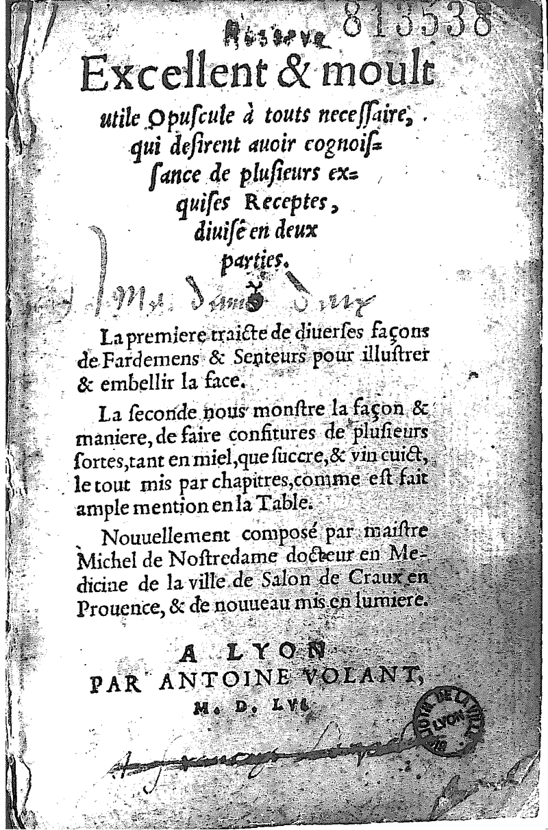800px-Nostradamus_Traité_des_Fardements