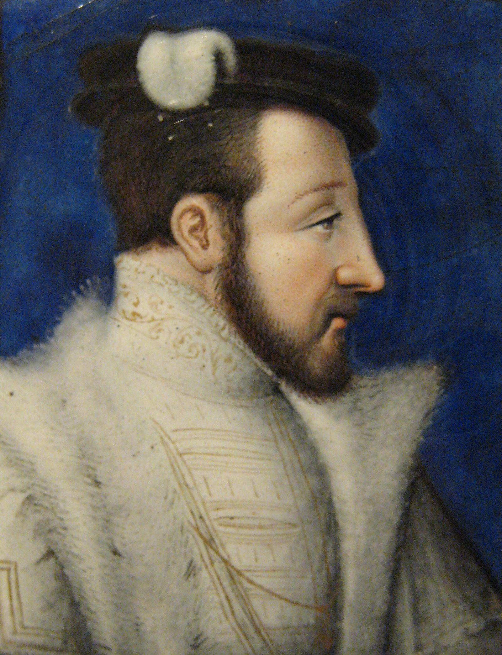 アンリ2世。レオナール・ リモザン画。1555-60年