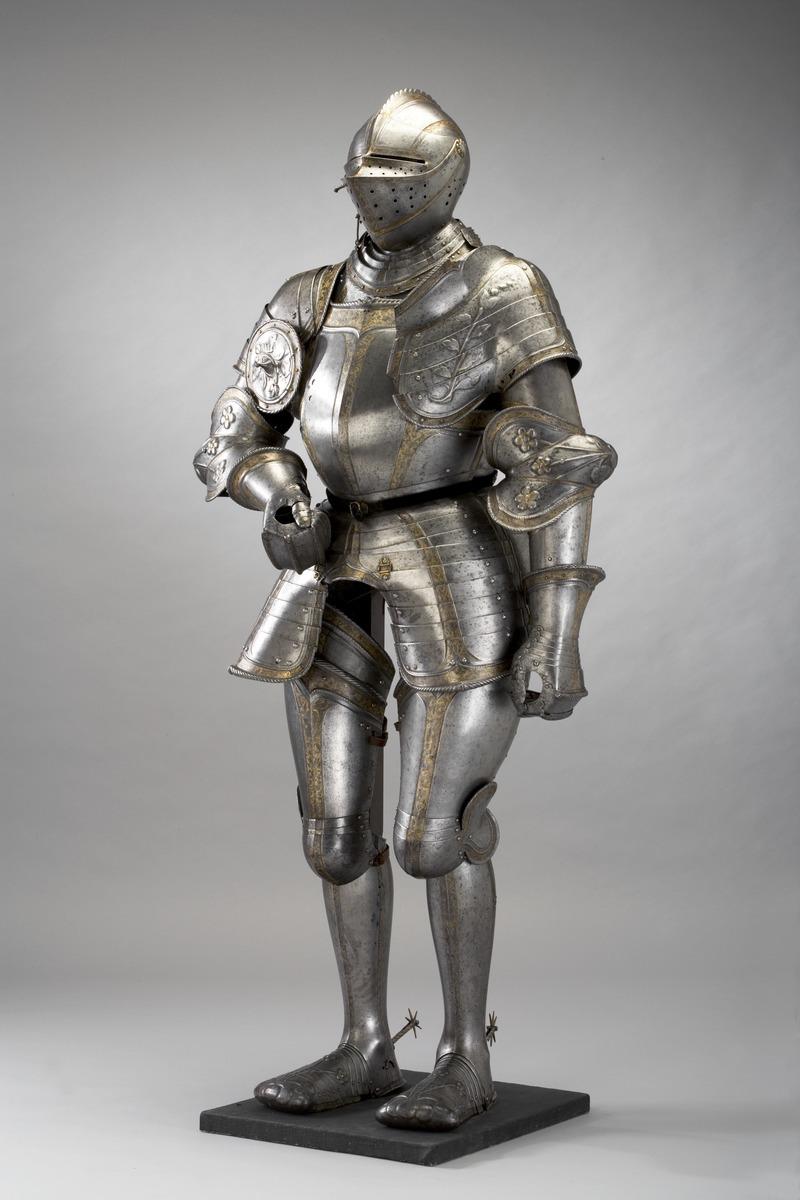 全身を覆うプレートアーマー 1540年