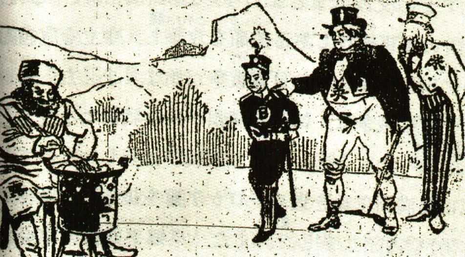 日露戦争風刺画1