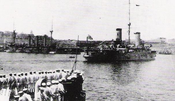装甲巡洋艦「日進」 マルタ島