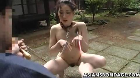 全裸のM女美熟女が野外でメス犬調教されちゃいます!