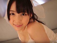 【無修正】佳苗るか 神カワ花嫁の桃色マンコをヒクヒクさせる中出しSEX