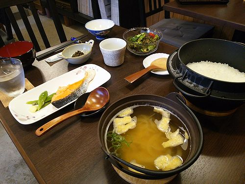 草津温泉民泊施設花栞、宿泊客限定朝食3