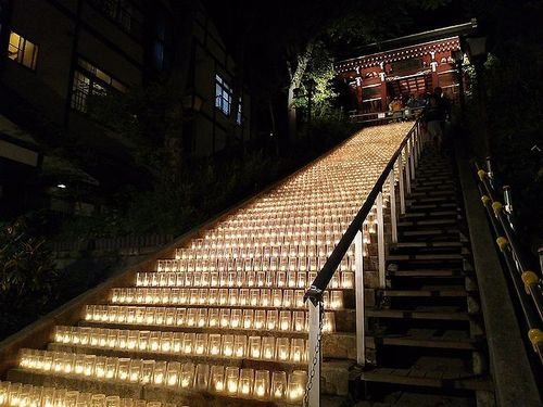 草津温泉湯畑キャンドル「夢の灯り」3