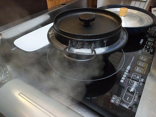 20171014草津温泉民泊花栞(はなしおり)朝食鉄釜で炊いたご飯